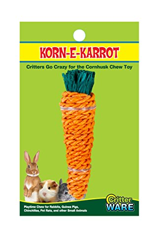 Ware Manufacturing Corn-E-Carrot Small Pet Chew Toy, Medium
