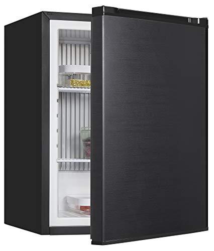 Exquisit Absorber Kühlschrank FA60-260G schwarz | Standgerät | 42 l Volumen | Schwarz