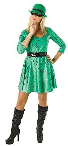 Rubie's - Disfraz oficial de DC cmic Riddler para mujer, disfraz de Batman