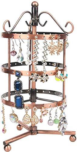 OH Jewelry Box Organizer Showcase Lock Locker Fashion Exquisite Cuero Joyería Caja Hecho a Mano Hecho a Mano Organizador de Cajones Moda/Cobre