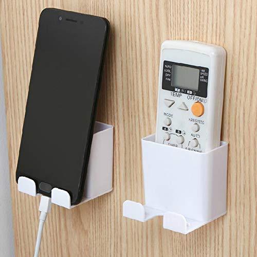 Delleu Fernbedienung Aufbewahrungsbox Wandhalterung Handy Lade Büro Halterung Halter Media Organizer Hook Box