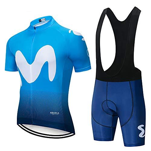 UIMED Traje de ciclismo para hombre chaqueta de manga corta + pantalón corto transpirable y de secado rápido