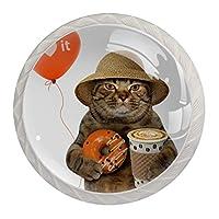 ドレッサー引き出し用キャビネットノブキャビネットハンドルドーナツ付きホームオフィス食器棚猫用プル
