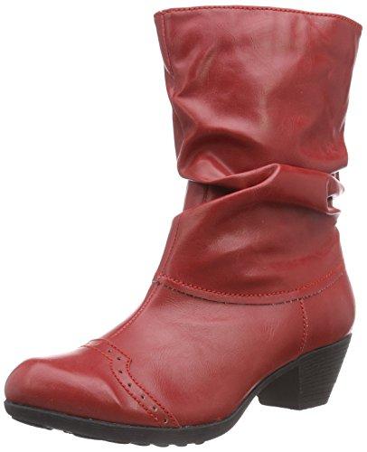 Andrea Conti Damskie kozaki z krótką cholewką 0616628, czerwony - Rot 021-38 EU