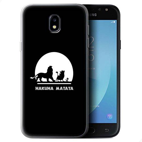 Stuff4Custodia/Cover/Skin/SG GC/Cartone Animato African Animals Collection Hakuna Matata Samsung Galaxy J5 2017/J530