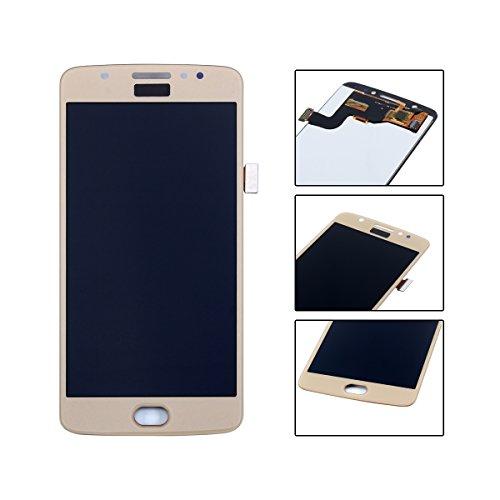 YHX-OU 5.0' di Riparazione e Sostituzione per Motorola Moto E4 XT1763 XT1762 XT1761 LCD Display con Touch Screen Digitizer + Utensili Inclusi (d'oro)