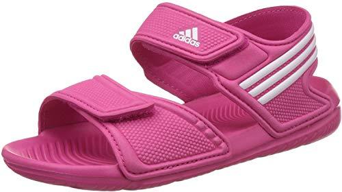 adidas Akwah 9 K - Chanclas, Unisex infantil, Rosa/Blanco (Eqtros / Ftwbla / Ftwbla), 33