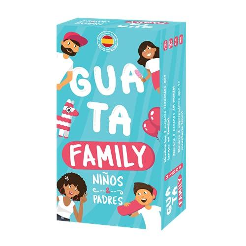 GUATAFAMILY - Juego de Mesa en Familia - Cartas para niños y Padres - Risas e Imaginación - Edición Español -