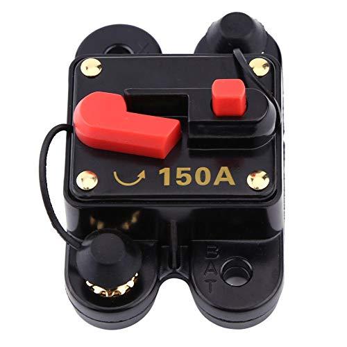 Yosoo Health Gear Leistungsschutzschalter 150A, DC 12V Kfz Sicherung Leistungsschalter, Manuelle Rücksetzsicherung Sicherungshalter für Motor Auto Marine Boat Bike Stereo Audio (150A)