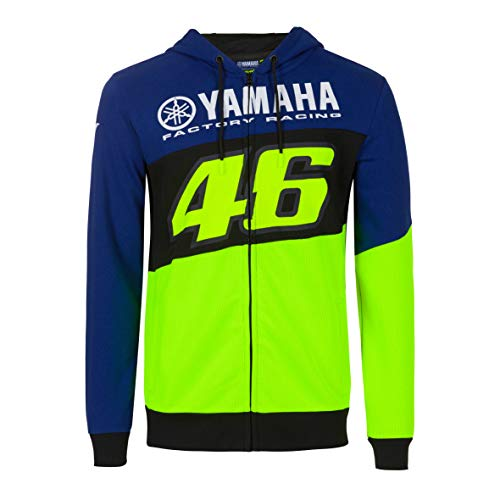 Valentino Rossi Sweatshirt Yamaha Dual Jacke, Königsblau, M