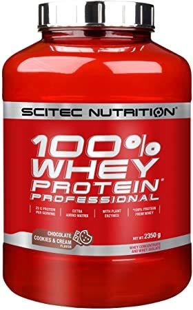 Scitec Nutrition 100% Whey Protein Professional Suplemento Nutricional De Proteinas Con Sabor De Chocolate Cookies & Cream, 2350 G