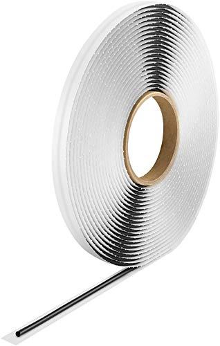 Poppstar Butylrundschnur Klebeband (10 m x 4 mm) Dichtband selbstklebend, rund, schwarz