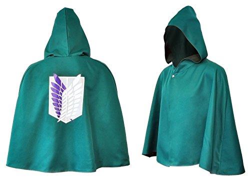 CoolChange Mantello Cosplay dell'armata ricognitiva | Mantello Verde per i Fan di Attack on Titan | Taglia: XL