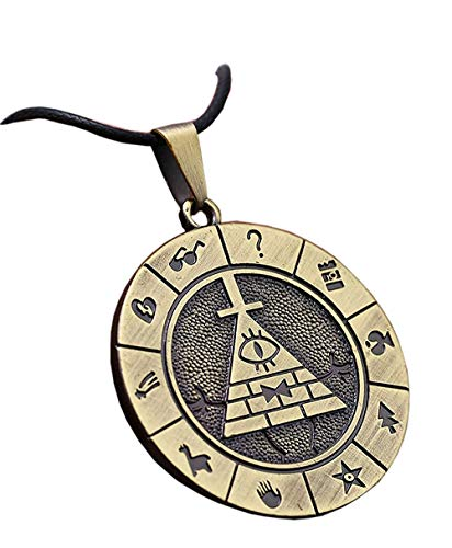 Aiyee Bill Cipher Necklace Keychain Cosplay Costume Pyramid Prop Pendant Fashion Accessories (Necklace)