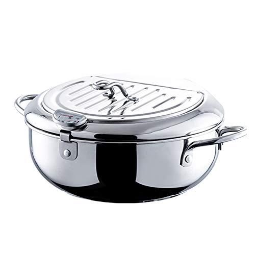 A temperatura controllata piccola friggitrice, Tempura Piccolo Profondo Padella, 304 Fries acciaio inossidabile, pollo Cotoletta Fryer,24cm