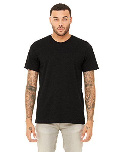 CN MEN GREENWICH FITTED TEE, BLACK HEATHER, L