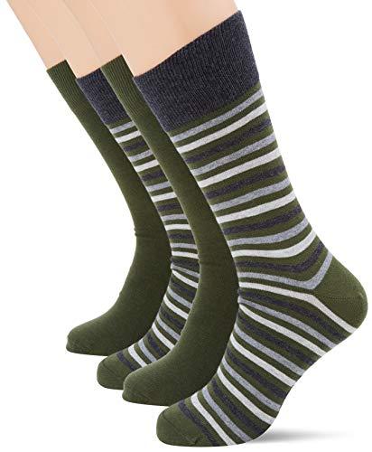 ESPRIT Herren Multistripe 2-Pack M SO Socken, Grün, 43-46 (UK 8.5-11 Ι US 9.5-12) (2er Pack)