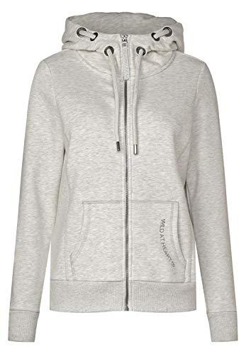 Cecil Damen Sweatjacke mit Strass Off White Melange XL