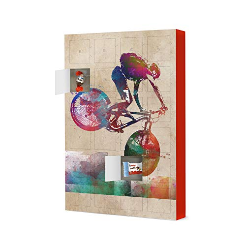 artboxONE Advent Calendar with Kinder® chocolate Mountain biker art Travel Christmas Calendar