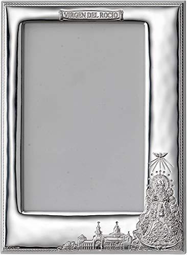 El Faro Bilderrahmen Virgen del Rocio in Silber Bilaminiert 2 Größen (Silber, 9 x 13)
