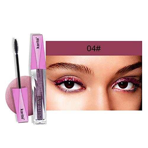 ARTIFUN Shimmer Mascara with Shiny Powder Resistente al agua de Larga Duración Brillo Glitter Mascara Eye Makeup