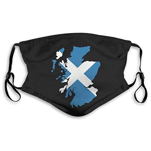 Schotland kaart vlag Unisex Anti-Pollution masker stofmasker met filtermasker