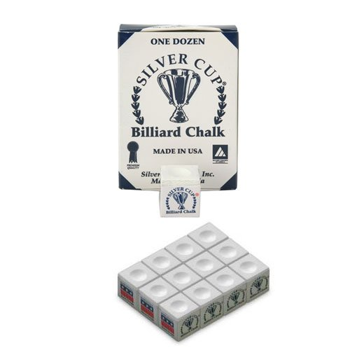 Silver Cup Boîte de 12 craies Blanc