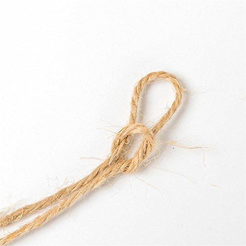 BIGBOBA Corde de jute rétro en chanvre - 2 m - Marron