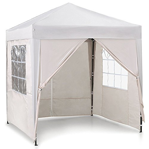 VonHaus Pop Up Gazebo 2x2m – Outdoor Garden Marquee with Water-resistant Cover - Ivory Colour