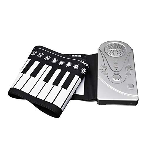 Roll Up Piano, draagbare 49-key toetsenbord E-Hand Roll Up Piano Voor de kinderen beginners elektrische piano,Black