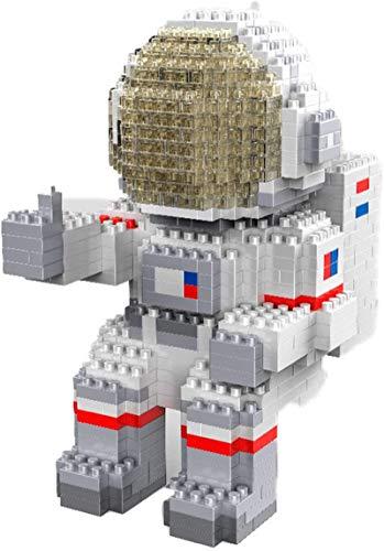 Mini Bloques De Construcción DIY Bloques De Construcción Dibujos Animados Astronauta Modelo De Juguete Ladrillos Figura De Acción Juguetes para Niños Regalos,B