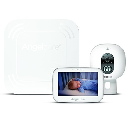 """Angelcare Baby Monitor with 4.3"""" Touchscreen Display and Wireless Breathing Sensor Pad (AC417)"""
