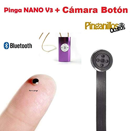 Pinga Nano Imán V3 + Cámara Botón Espía WiFi (Carne)