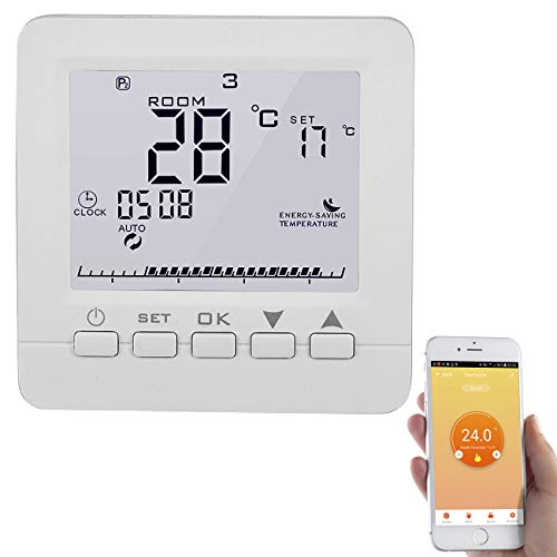 revolt Raumthermostat: WLAN-Thermostat für Fußbodenheizung, komp. zu Alexa & Google Assistant (Raumthermostat Alexa)