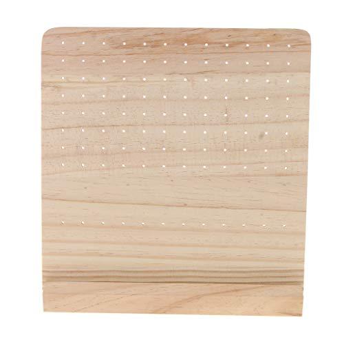 16 x 13 cm 6 Pares de Blancos Expositor de Joyas de Madera con Bandeja para Pendientes y Auriculares//Organizador para Joyer/ía y Presentaci/ón