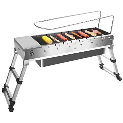 Holzkohlegrill gefaltet Edelstahl tragbarer Holzkohle BBQ Grill im Freien Grill Holzkohle für Camping Picknick-Hinterhof Kochen