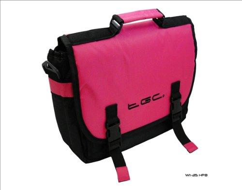 Color Rosa y Negro Estilo Mensajero Bolsa de Transporte para Sony Xperia Tablet S Tablet y Cubierta