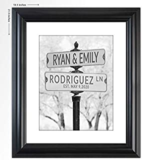 "Personalized Wedding Gift -""Keep Me Warm"" Street Sign Art Print- The Perfect Present for the Bride and Groom or Anniversary - Customized Print Includes Names and the Special Date Under $30"