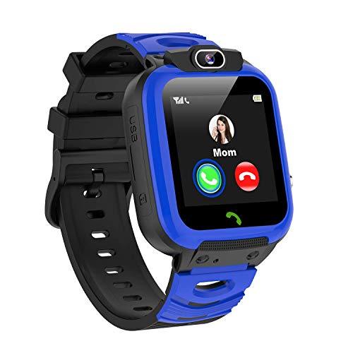Vannico Smartwatch Niños, MP3 Música Juegos Reloj Inteligente NiñoLlamada de Pantalla Táctil de 2 Vías SOS Vídeo Cámara Temporizador, Reloj Niños Niña,Soporta 2G Micro SIM