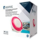 Konig 3W Pink Waterproof Splash Resistant Floating Bluetooth Speaker w/Colour Changing Mood Light for Indoor and Outdoor Use Compatible with All Bluetooth Audio Devices Including Smartphones/Laptops