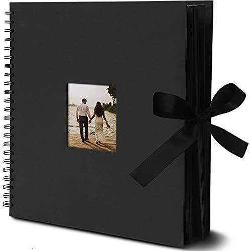 álbum De Fotos Hojas Negras  marca Juvale