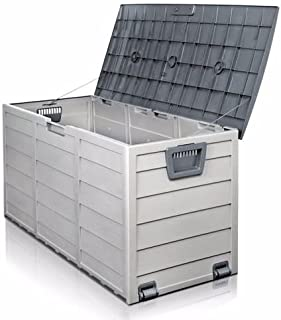 Patio Deck Box Covers Waterproof Large Storage Cabinet Outdoor Container Bin Chest Organizer, All Weather