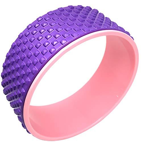BGROESTWB Rueda de Estiramiento de Yoga Círculo de Yoga Dharma Wheel Newice Yoga Capacitación Rueda Rueda de Yoga Backbend para Yoga, Pilates (Color : Purple, Size : 12.5x32.5cm)