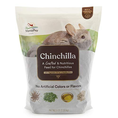 Manna Pro Chinchilla Feed | Made with Vegetable Oil For Healthy Coat | Nutritious Feed for Chinchillas | No Artificial Colors or Flavors | 5lb