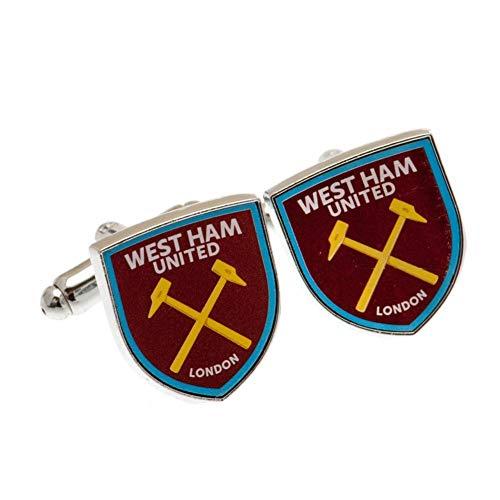 West Ham United FC Manschettenknöpfe (Einheitsgröße) (Weinrot/Blau)
