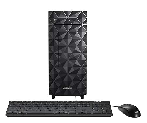 ASUS Desktop S300, Intel Core i7-10700, 16GB DDR4 RAM, 512GB PCIe SSD, DVD Drive, Windows 10 Home, Wired Keyboard & Mouse Included, Black, S300MA-DH701
