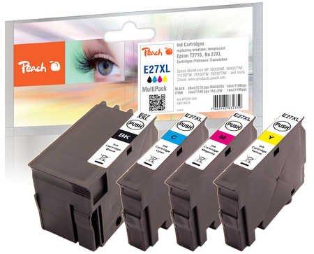Peach Spar Pack Tintenpatronen kompatibel zu Epson No. 27XL