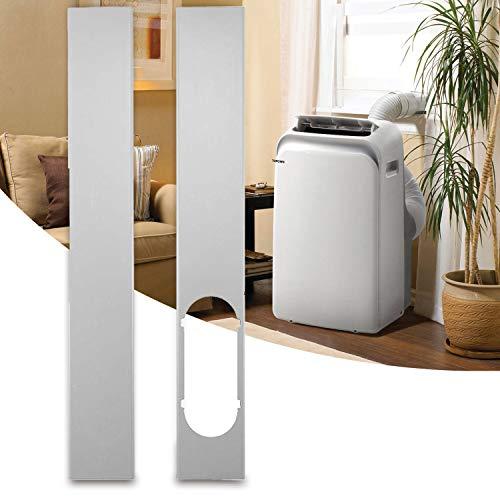 TOPOWN 110cm Fenster-Kit-Platte 2pcs Window Kit Fensterabdichtung für Mobile Klimageräte Kein Bohren erforderlich