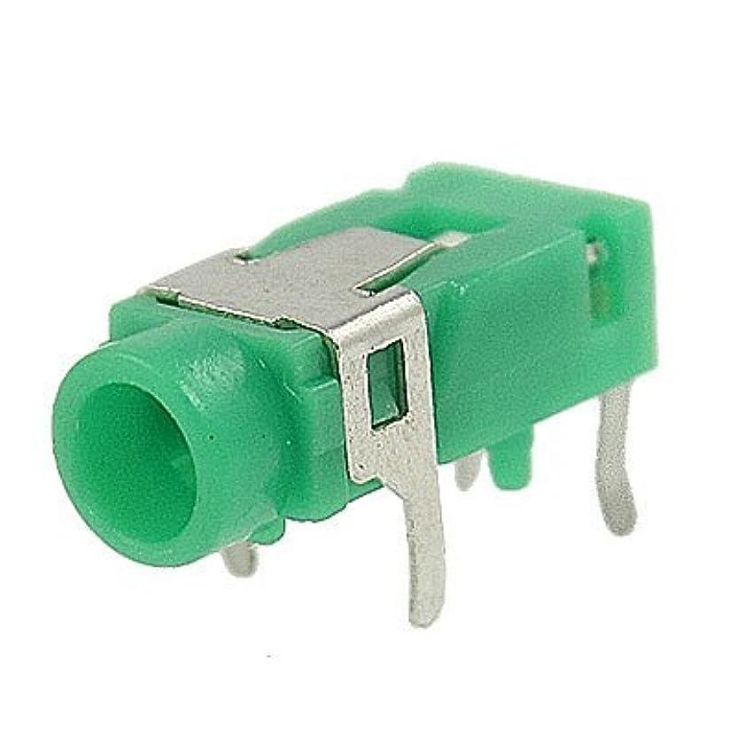 全体バース深めるグリーンシルバートーン4ピン3.5mmステレオジャックソケット基板実装コネクタ