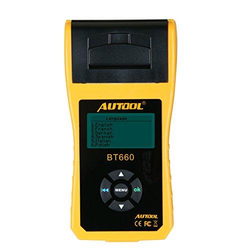 Batería de coche probador analizador Autool bt66012V/24V Conductance probador, Automotive herramientas de diagnóstico para camiones pesados, luz deber camión, coches